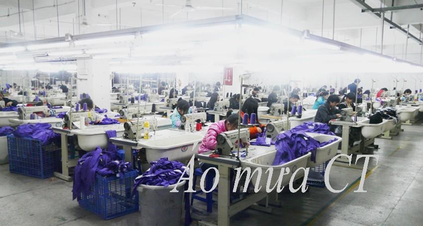 Hệ thống máy móc sản xuất áo mưa