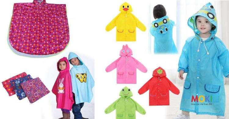Bộ quần áo mưa cao cấp trẻ em