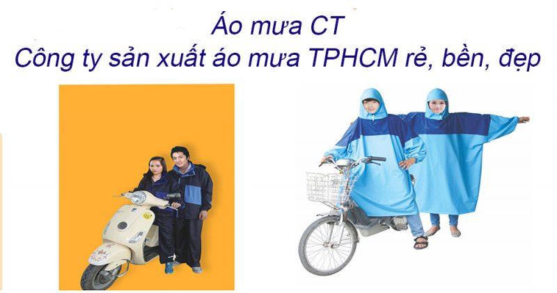 Cơ sở sản xuất áo mưa TPHCM rẻ, bền, đẹp