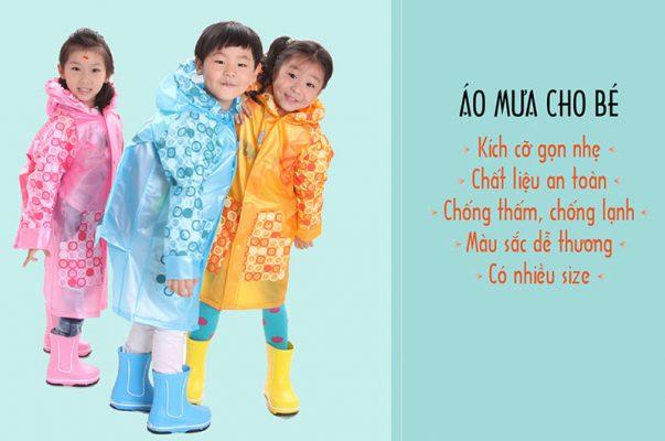 Xưởng sản xuất áo mưa bộ trẻ em số lượng lớn giá rẻ