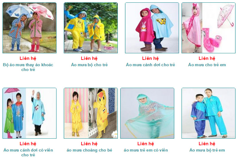 Áo mưa CT sản xuất các loại đa dạng theo yêu cầu